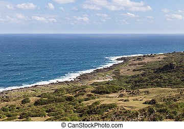 Landscape and coastline in Kenting National Park, South...