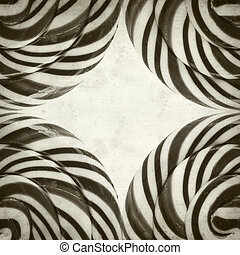 textured old paper background with large black and white...