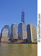 View on World Financial Center of Lower Manhattan - NEW...