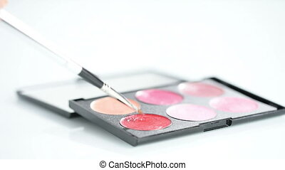 lipstick with a brush make-up lipstick palette