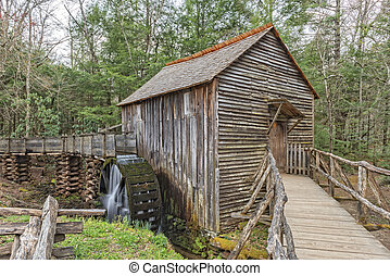 Grist Mill In Cades Cove - The John P. Cable Grist Mill At...
