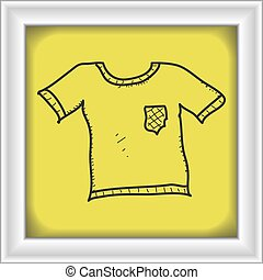 Simple doodle of a tshirt - Simple hand drawn doodle of a...
