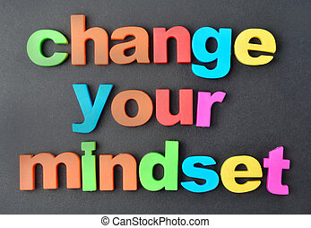 Change your mindset words on background - Change your...