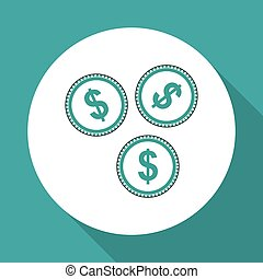 Vector illustration of Money , editable icon
