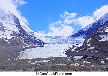 Athabasca Glacier. - Athabasca Glacier - part of Columbia...