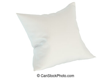 white pillow, 3D rendering isolated on white background
