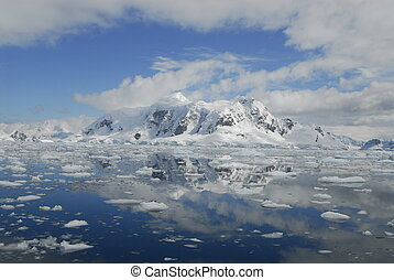 Antarctic view - Paradise bay in Antarctica
