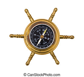 Compass - A compass on a white background, finding your way
