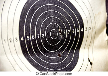 shooting target - target with bullet holes