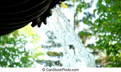 Fountain on sheets background