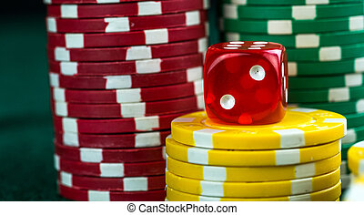 Red Dice and Money Chips