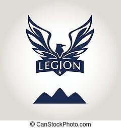 Vector logo template Legion label Logo with eagle Sport team...