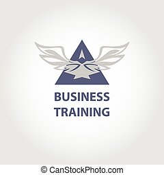 Vector logo business training. Illustration elegant style...