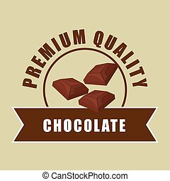 Chocolate design over white background, vector illustration...