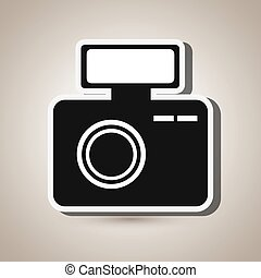 digital camera design - digital camera design, vector...