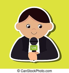 news reporter design