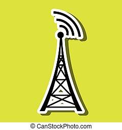 transmitting satellite design, vector illustration eps10...