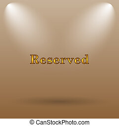 Reserved icon Internet button on brown background