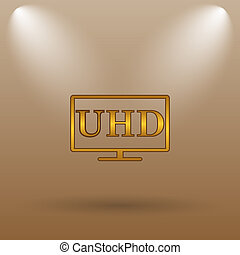 Ultra HD icon Internet button on brown background
