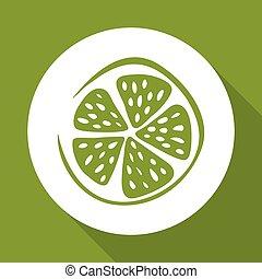 lemon design over white background, vector illustration