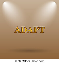 Adapt icon Internet button on brown background