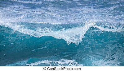 breaking ocean waves - powerful foamy ocean waves breaking...