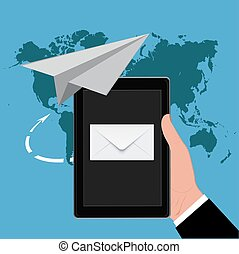Email marketing concept, vector