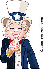 Uncle Sam Wants You! - Great illustration of Uncle Sam...