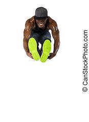 Hip Hop Dancer Jumping or Parkour