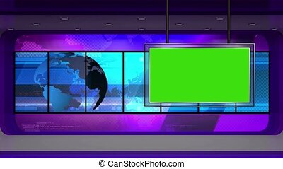News TV Studio Set -30 - News TV Studio Set 30 - Virtual...