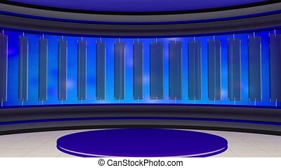 News TV Studio Set -21 - News TV Studio Set 21 - Virtual...
