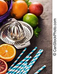 別, ライム,  Juicer, 柑橘類, 成果, レモン, オレンジ
