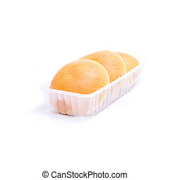 Roll of bun isolated on white background