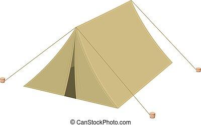 Camping tent Icon web Cartoon Vector illustratio