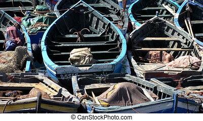 Fishing boats close up