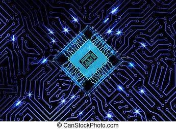 Abstract Circuit Board Background - Circuit board with...