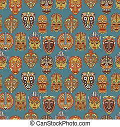 Background with different ethnic ma - Seamless pattern....