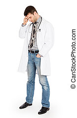 Male doctor, concept of healthcare and medicine - Isolated...