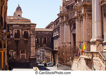 Via dei Crociferi, Catania - CATANIA, ITALY - MARCH, 31:...