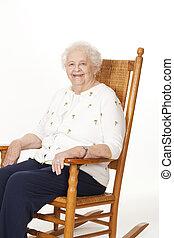 Elderly Woman - Portrait of a beautiful elderly Caucasian...