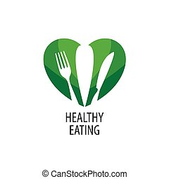 vector logo healthy eating - Logo pattern of healthy eating....