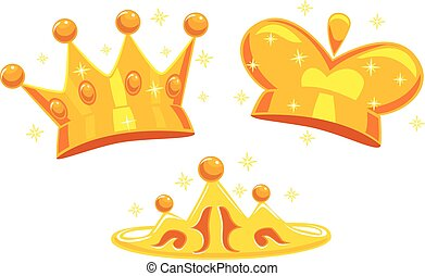 Set of Crown - Vector Illustration of Set of Crown