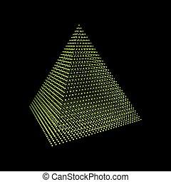tetraedro, cuadrícula, platonic, pirámide, Poliedro,...