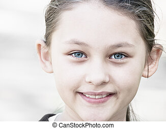 Portrait of a girl smiling