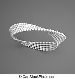 Mobius strip variation. Infinity Sign. Classic Optical Illusion. Geometrical Figure. Moebius loop. Mobius band with 180 degrees rotation. Connection Structure. Impossible Circle Sign.