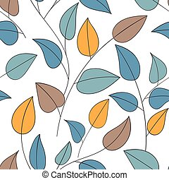 Floral ornamental doodle pattern - Beautiful decorative...