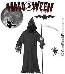 grim reaper halloween vector