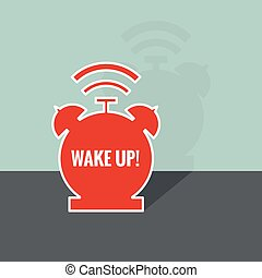 Background with alarm clock The concept of early awakening...