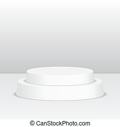 Round pedestal for display Platform for design Realistic 3D...