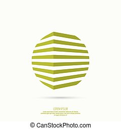 abstract geometric circle figures - 3d logo in form of...